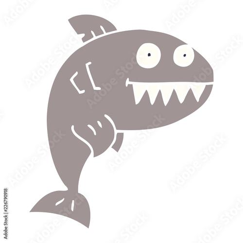 Fototapeta cartoon doodle deadly shark