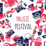 Creative background for music festival.