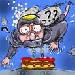 plongeur gateau anniversaire - 226801339