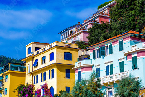 Colorful houses in Monterosso Al Mare Italy  - 226819550