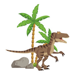 raptor dinosaur cartoon © Jemastock