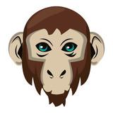Monkey face cool sketch