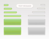 Text message set mobile chat. Vector illustration - 226840733
