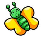 Happy Green Butterfly
