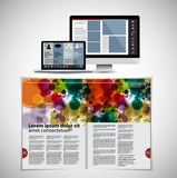 Template vector design ready for use for brochure, annual report or magazine - 226855928