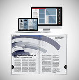 Template vector design ready for use for brochure, annual report or magazine - 226855933