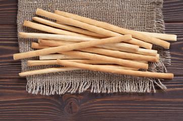 Heap of bread sticks