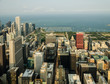 Aerial view of Chicago Downtown & Lake Michigan