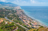 Panoramic view from Forza d'Agrò. Province of Messina, Sicily, southern Italy.