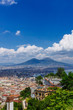 Quadro Aerial view of the city of Naples, Italy and Mount Vesuvius
