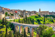 Leinwandbild Motiv Gravina in Puglia ancient town, bridge and canyon. Apulia, Italy.