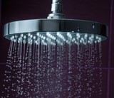 Shower Head with Droplet clean Water, close-up view