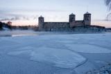 Savonlinna castle at the winter. Finland  - 226875748