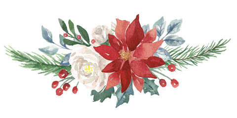 Winter Watercolor Bouquet © aves