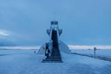 Nallikari Lighthouse in winter. Oulu, Finland - 226875933
