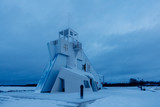 Nallikari Lighthouse in winter. Oulu, Finland - 226875992