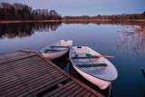 Boats on a lakeside.   - 226878944