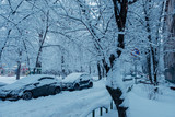A lot of snow at the town streets. Moscow  - 226879745