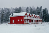 Red townhouses in Finland - 226887509