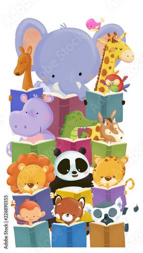 animales leyendo libros - 226890355