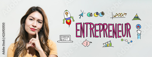 Entrepreneur with young woman in a thoughtful fac