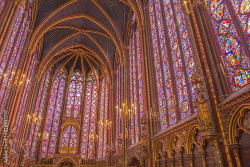 Sainte-Chapelle Cathedral Stained Glass