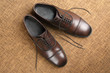 Classic men's brown Oxford shoes