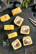 Hot Crispy Deep Fried Sushi Rolls