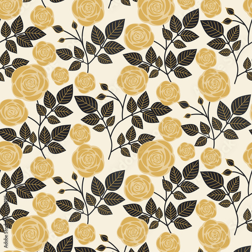 seamless pattern with roses - 226958195