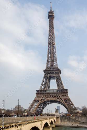 The Eiffel tower from the river Seine in Paris - 226959582