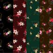 set of floral pattern - 226967752