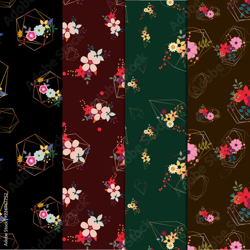 set of floral pattern - 226967752