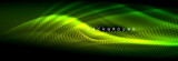Liquid neon flowing waves, glowing light lines background - 226973325