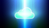 Cloud computing technology concept abstract background. Vector illustration. - 226973756