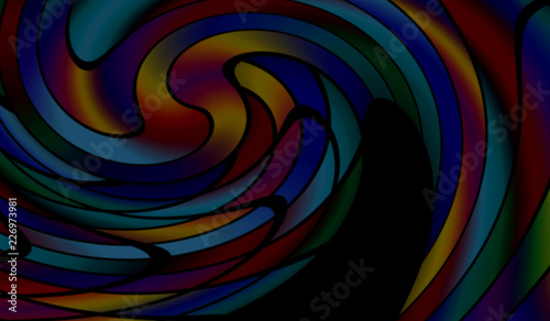 Fototapeta Abstract colorful blurred background
