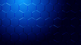 Abstract blue light and shade creative technology background. Vector illustration. - 226974747