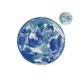 Hand drawn Earth and Moon - 226996991