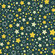 Stars and night sky Christmass Seamless vector EPS 10. Flat geometric pattern texture. Multicolor abstract background for print and textile - 227001502