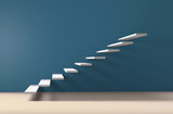 Stairs on the wall upward 3D