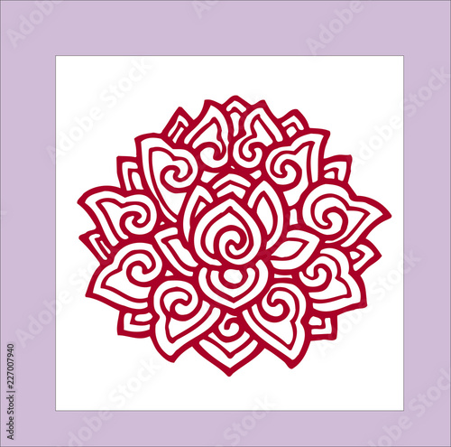 flower pictures for tattoo vector illustration - 227007940