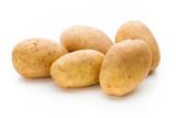 New potato isolated on the white background. - 227010929