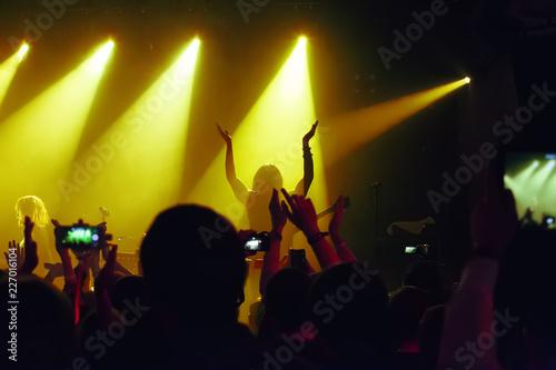 Foto Murales audience at concert at nightclub