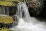 small waterfall on mountain brook - 227034331