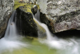 waterfall among stones in mountains - 227034338