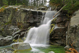 waterfall in moountains - 227034395