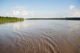Amazon river and rainforest landscape.