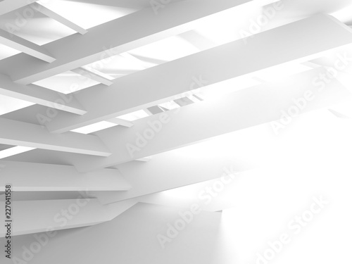Abstract Modern White Architecture Background - 227041558