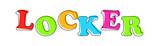 Locker - multicolored cartoon text on white background - 227042779