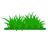 Card with green grass isolated on white background with empty space. Vector illustrator. - 227048363