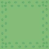 Frame with dog tracks isolated on white background. Vector illustration. - 227050153